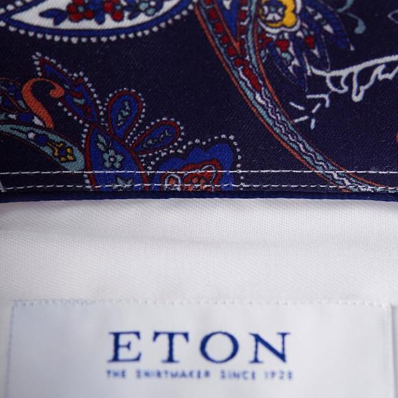 Eton Mens White Signature Twill Paisley Detail Shirt main image