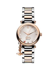 Vivienne Westwood Womens Pink Orb Diamond VV006SLRS Watch