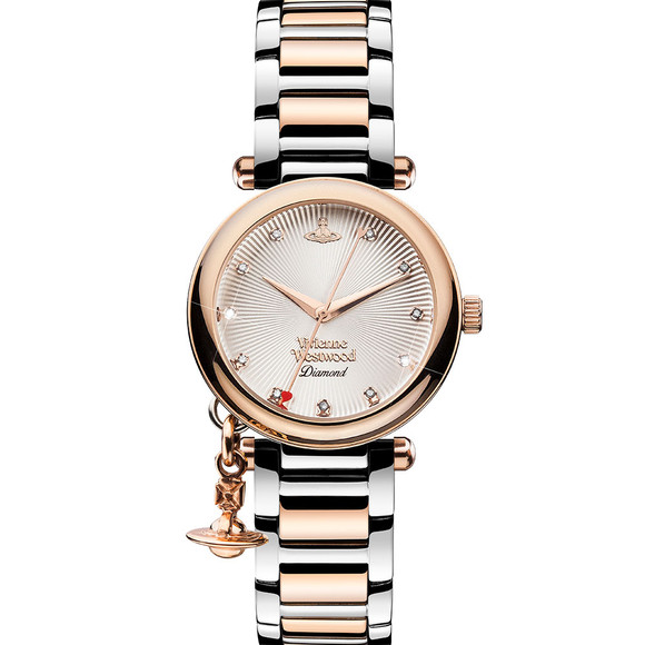 Vivienne Westwood Womens Pink Orb Diamond VV006SLRS Watch main image