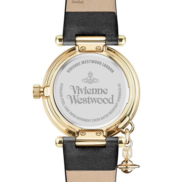 Vivienne Westwood Womens Black Orb II Gold Plated Watch main image