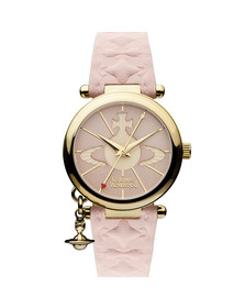 Vivienne Westwood Womens Pink Orb II Gold Plated Watch