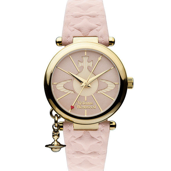 Vivienne Westwood Womens Pink Orb II Gold Plated Watch main image