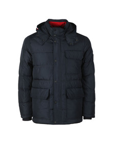 Tommy Hilfiger Mens Blue Down Hooded Jacket