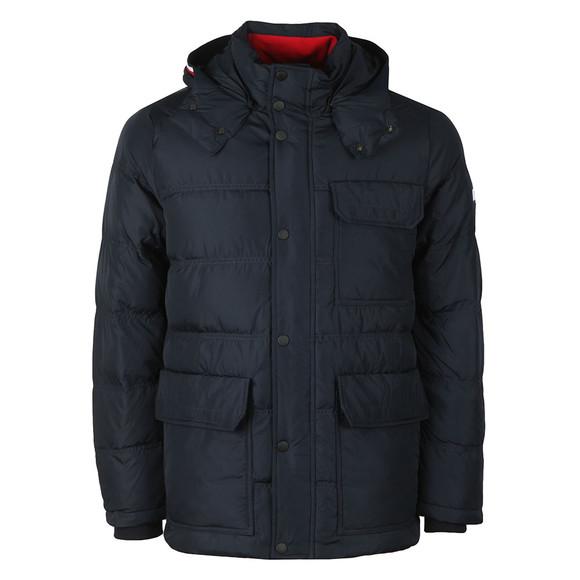 Tommy Hilfiger Mens Blue Down Hooded Jacket main image