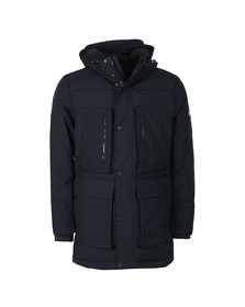 Tommy Hilfiger Mens Blue Heavy Canvas Down Jacket