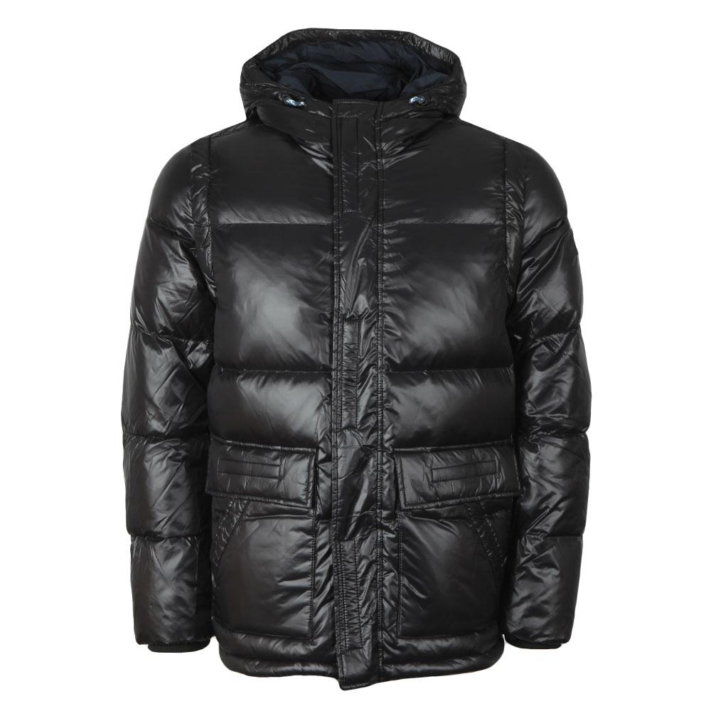 Shiny Hooded Down Jacket main image