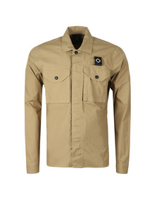 Ma.Strum Mens Beige Icon Overshirt