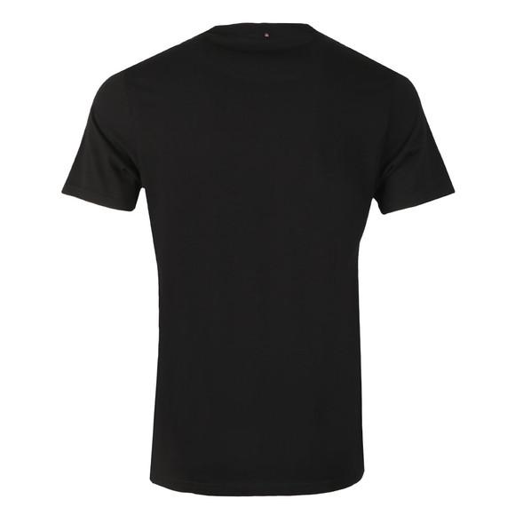 Pretty Green Mens Black Stripe Print Logo T-Shirt main image