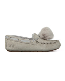 Ugg Womens Grey Dakota Pom Pom Slipper