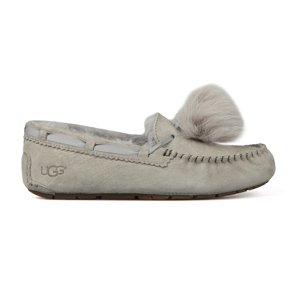 Ugg Womens Grey Dakota Pom Pom Slipper main image