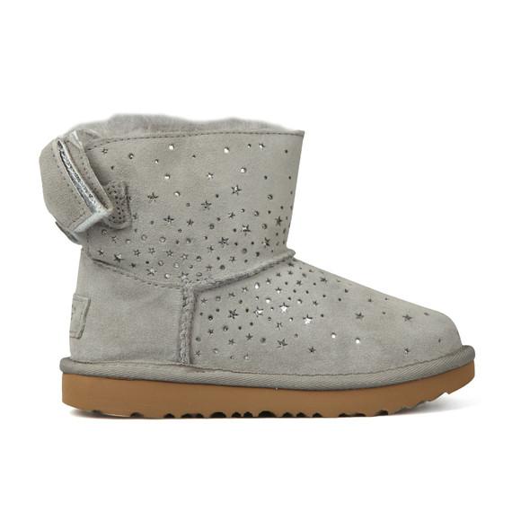Ugg Girls Grey Stargirl Classic Mini Bow Boot
