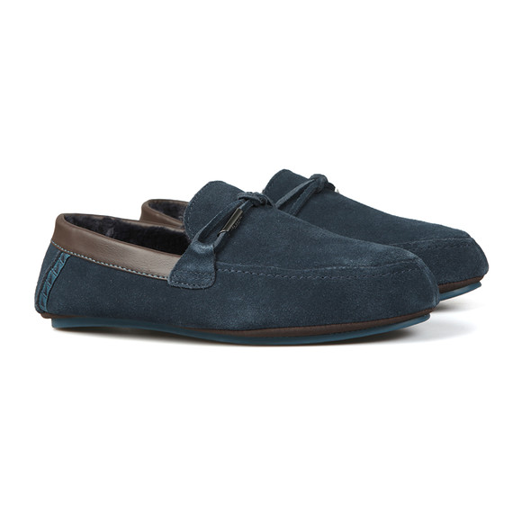 Ted Baker Mens Blue Valcent Suede Slippers main image