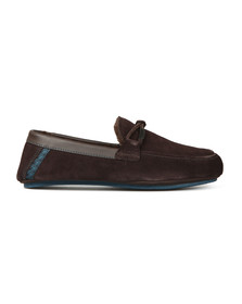 Ted Baker Mens Brown Valcent Suede Slippers