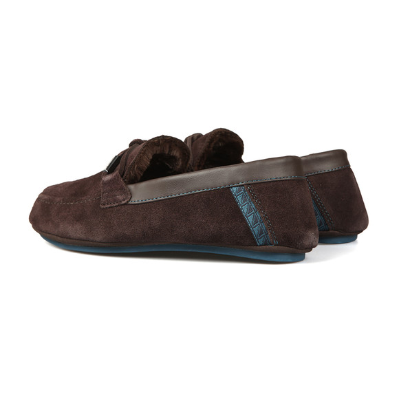 Ted Baker Mens Brown Valcent Suede Slippers main image