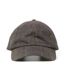 Barbour Lifestyle Mens Green Tartan Wax Sports Cap