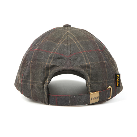 Barbour Lifestyle Mens Green Tartan Wax Sports Cap main image