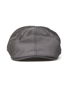 Fred Perry Mens Grey Tonal Dobby Flat Cap