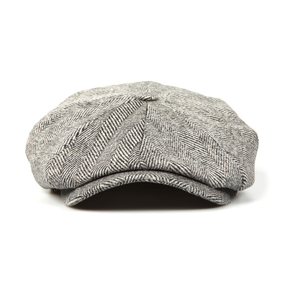 Luke Mens Grey The Garrison Flat Cap main image