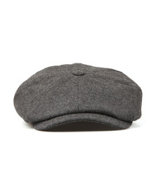 Luke Mens Grey The Garrison Flat Cap