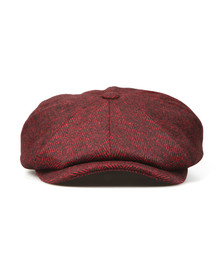 Luke Mens Red The Garrison Flat Cap
