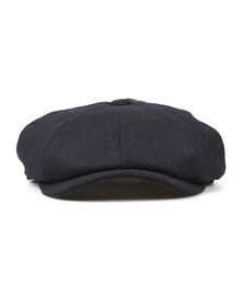 Barbour Lifestyle Mens Blue Melton Bakerboy Cap