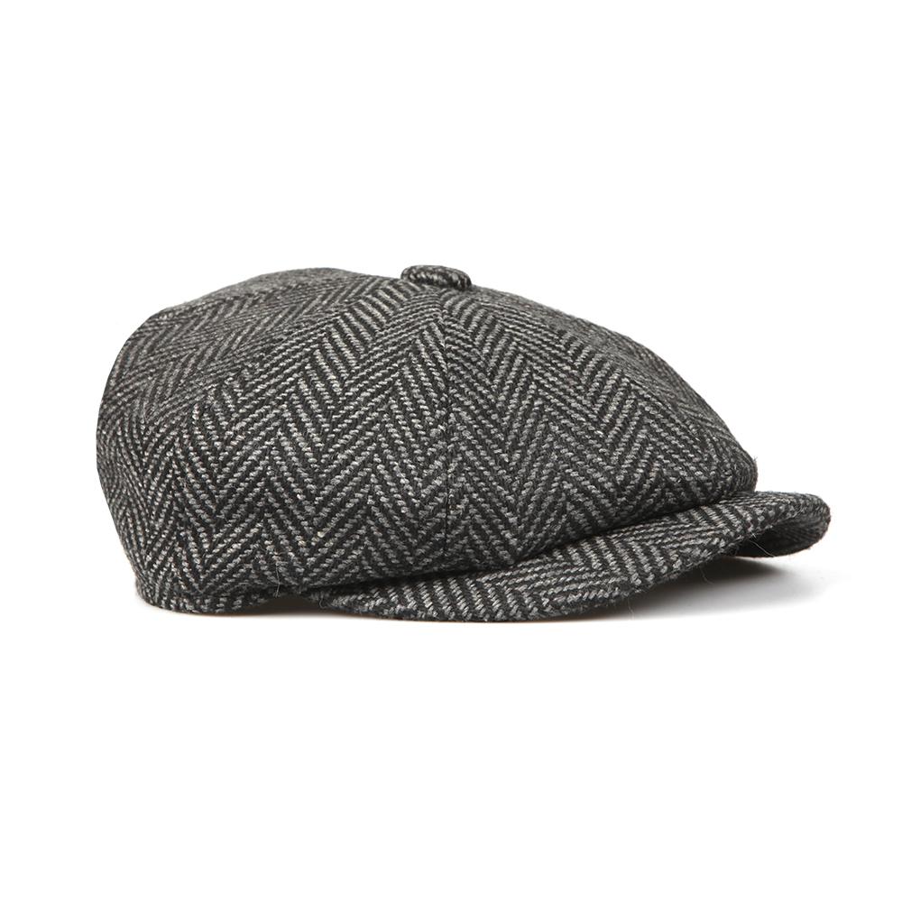 1d2e1e4a2 Mens Grey Herringbone Bakerboy Cap
