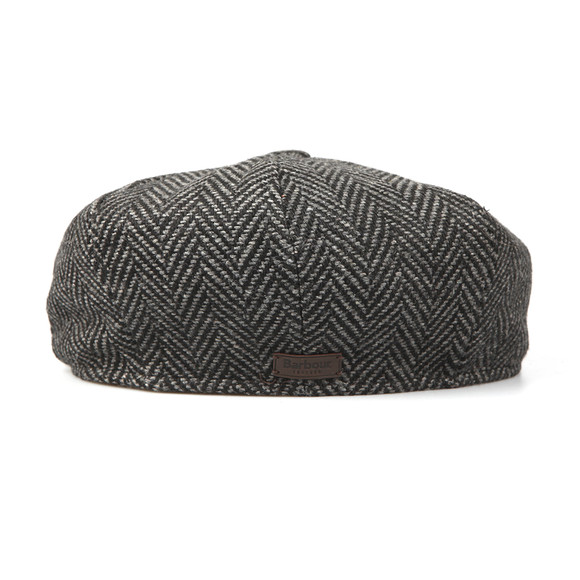 Barbour Lifestyle Mens Grey Herringbone Bakerboy Cap main image