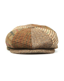 Barbour Lifestyle Mens Brown Mixed Bakerboy Cap