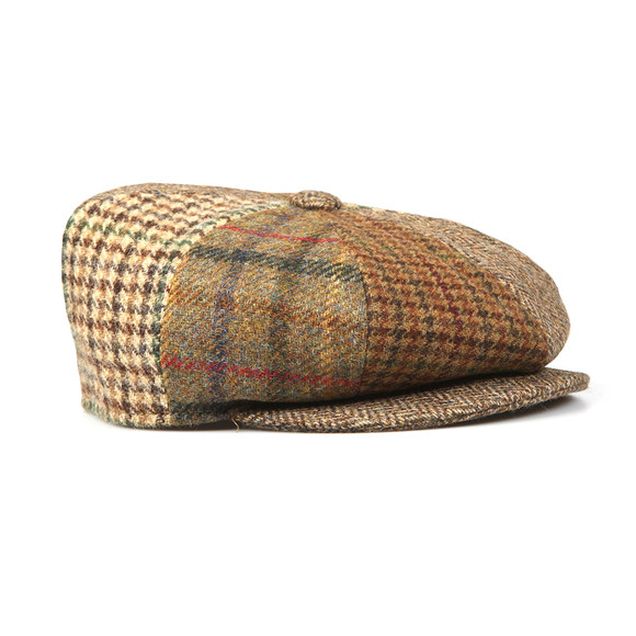 Barbour Lifestyle Mens Brown Mixed Bakerboy Cap main image