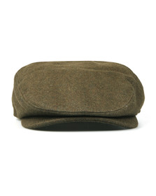 Barbour Lifestyle Mens Green Redshaw Flat Cap