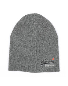 Superdry Mens Grey Orange Label Beanie