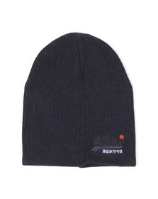 Superdry Mens Blue Orange Label Beanie