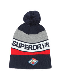 Superdry Mens Blue Trophy Beanie