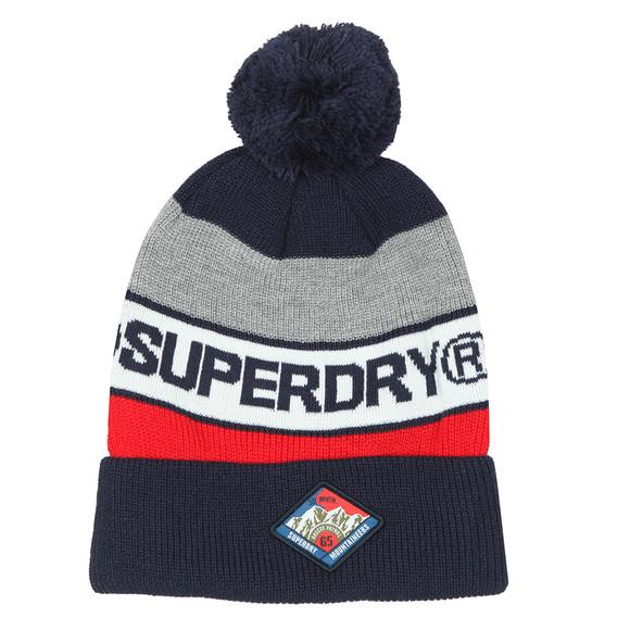 Superdry Mens Blue Trophy Beanie main image