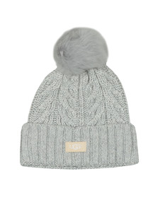 Ugg Womens Grey Cable Pom Beanie