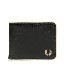 Fred Perry Mens Black Classic Billfold Wallet