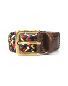 Barbour Lifestyle Mens Multicoloured Tartan Stretch Belt Gift Box