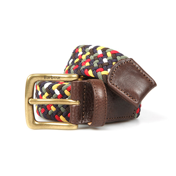 Barbour Lifestyle Mens Multicoloured Tartan Stretch Belt Gift Box main image