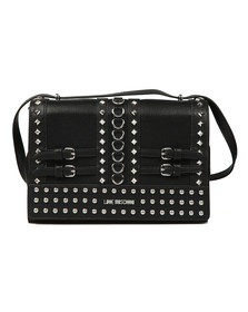 Love Moschino Womens Black Borsa Pebble Grain Bag