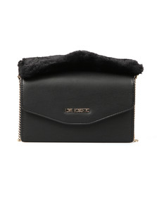 Love Moschino Womens Black Borsa Nappa PU & Fur Bag