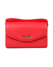Love Moschino Womens Red Borsa Nappa PU & Fur Bag