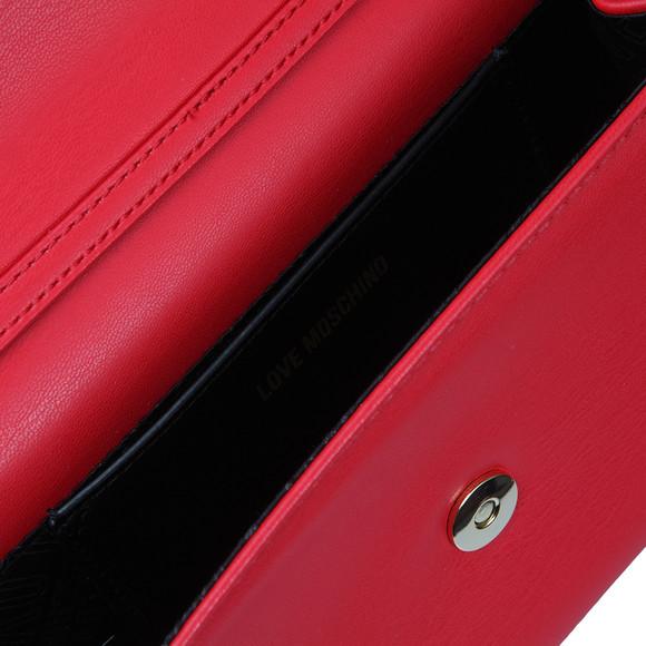 Love Moschino Womens Red Borsa Nappa PU & Fur Bag main image