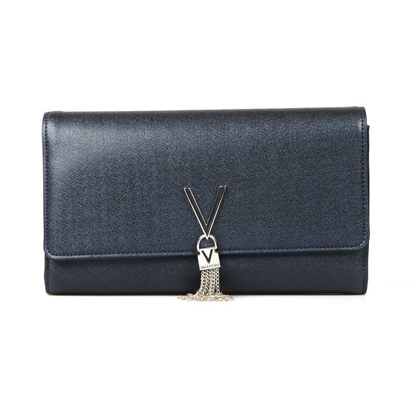 Valentino by Mario Womens Blue Marilyn Clutch main image