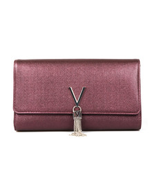 Valentino by Mario Womens Purple Marilyn Clutch