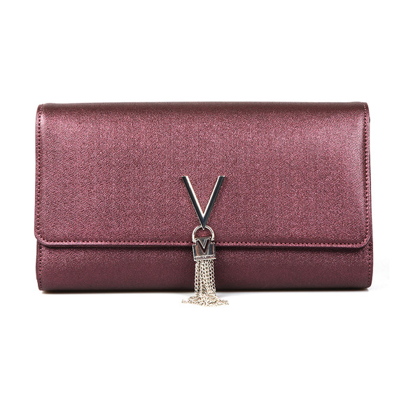 Valentino by Mario Womens Purple Marilyn Clutch main image