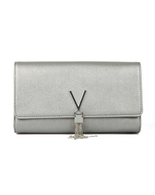 Valentino by Mario Womens Silver Marilyn Clutch