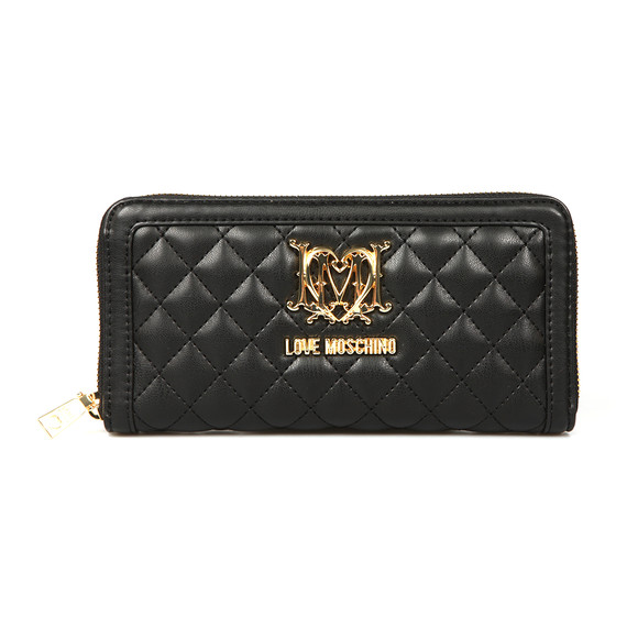 Love Moschino Womens Black Portafogli Quilted Purse main image