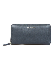 Valentino by Mario Womens Blue Marilyn Zip Around Purse