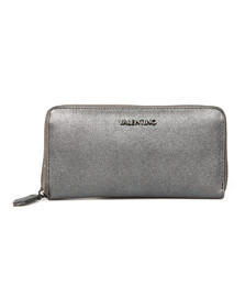 Valentino by Mario Womens Grey Marilyn Zip Around Purse