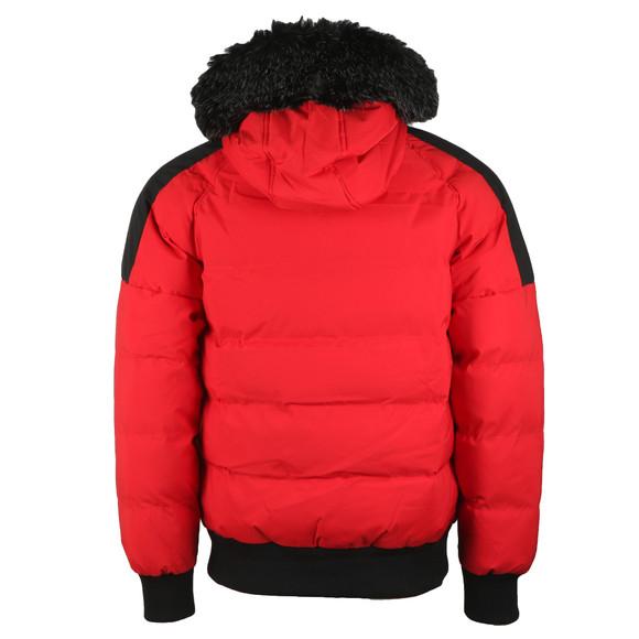 Kings Will Dream Mens Red Branton Fur Trim Jacket main image